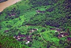 Vista aerea del villaggio cinese generico Fotografia Stock Libera da Diritti