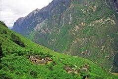 Vista aerea del villaggio cinese generico Immagini Stock Libere da Diritti