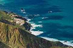 Vista aerea del villaggio di Almaciga, Tenerife Fotografie Stock