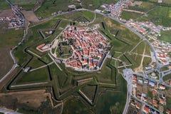 Vista aerea del villaggio di Almeida nel Portogallo Immagini Stock Libere da Diritti