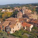 Vista aerea del villaggio di Palaia Immagine Stock