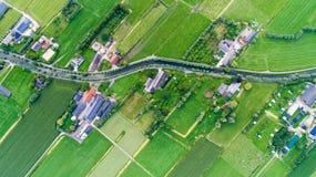 Vista aerea del villaggio di Snelrewaard nei Paesi Bassi Fotografia Stock