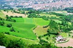 Vista aerea del villaggio francese Fotografia Stock Libera da Diritti