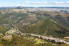 Vista aerea del villaggio in Francia Immagini Stock