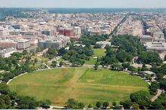 Vista aerea del Washington DC con la casa bianca immagini stock libere da diritti