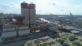 Vista aerea dell'accademia delle scienze russa a Mosca archivi video