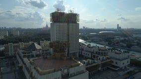 Vista aerea dell'accademia delle scienze russa a Mosca stock footage