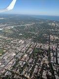 Vista aerea dell'aeroplano fotografie stock
