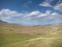Vista aerea dell'aquilone dei selvaggi West del pascolo libero Fotografia Stock Libera da Diritti