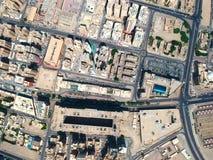 Vista aerea dell'architettura urbana della città Kuwait di Salmiya immagine stock libera da diritti