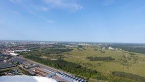 Vista aerea dell'arena dell'Allianz dal fuco immagini stock