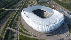 Vista aerea dell'arena dell'Allianz dal fuco immagine stock libera da diritti