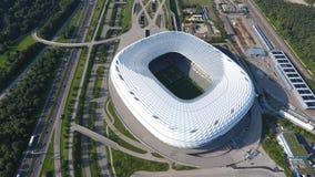 Vista aerea dell'arena dell'Allianz dal fuco fotografia stock