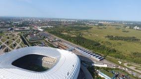 Vista aerea dell'arena dell'Allianz dal fuco fotografie stock libere da diritti