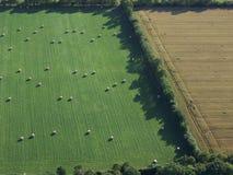 Vista aerea dell'azienda agricola Immagini Stock Libere da Diritti