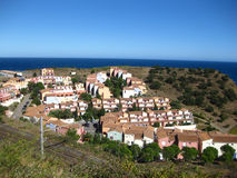 Vista aerea dell'espansione urbana che invade sulla terra rurale Fotografia Stock Libera da Diritti