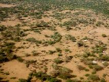 Vista aerea dell'Etiopia Fotografia Stock