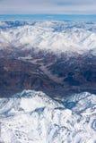Vista aerea dell'Himalaya in India del Nord Fotografia Stock Libera da Diritti