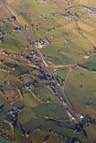 Vista aerea dell'Irlanda del Nord Immagine Stock