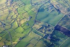 Vista aerea dell'Irlanda del Nord Fotografie Stock Libere da Diritti