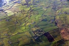 Vista aerea dell'Irlanda del Nord Fotografia Stock Libera da Diritti