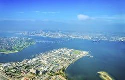 Vista aerea dell'isola di Coronado, San Diego Fotografia Stock