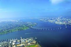 Vista aerea dell'isola di Coronado, San Diego Fotografia Stock Libera da Diritti