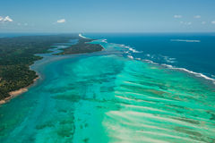 Vista aerea dell'isola di Sainte Marie, Madagascar Fotografia Stock