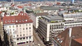 Vista aerea dell'orizzonte della città di Vienna stock footage