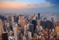 Vista aerea dell'orizzonte di New York City Manhattan Immagine Stock Libera da Diritti