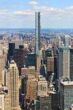 Vista aerea dell'orizzonte di New York City Manhattan fotografia stock