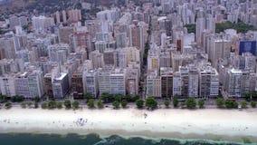 Vista aerea dell'orizzonte fronte mare di Niteroi Immagine Stock Libera da Diritti
