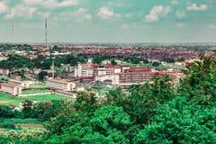 Vista aerea dell'ospedale UCH Ibadan Nigeria di University College fotografie stock libere da diritti