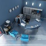 Vista aerea dell'ufficio moderno blu Fotografie Stock Libere da Diritti