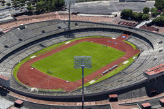 Vista aerea dell'università lo Stadio Olimpico di Messico City Fotografia Stock
