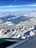 Vista aerea dell'Utah innevato Immagini Stock Libere da Diritti