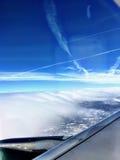 Vista aerea dell'Utah innevato Fotografia Stock