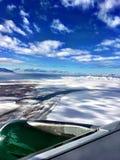 Vista aerea dell'Utah innevato Immagine Stock Libera da Diritti