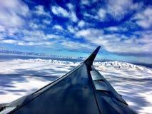 Vista aerea dell'Utah innevato Fotografia Stock Libera da Diritti