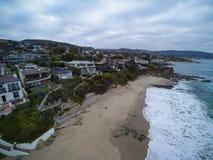 Vista aerea della baia di Shaws, Laguna Beach, California Fotografie Stock