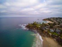 Vista aerea della baia di Shaws, Laguna Beach, California Immagini Stock
