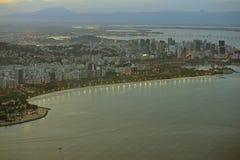 Vista aerea della baia e di Botafogo di Guanbara Immagine Stock Libera da Diritti