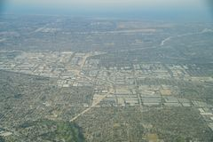Vista aerea della Buena Park, Cerritos fotografia stock