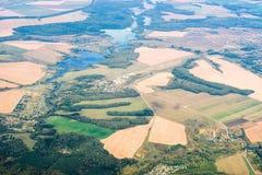 Vista aerea della campagna fotografia stock