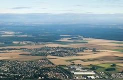 Vista aerea della campagna della Cechia Fotografia Stock Libera da Diritti