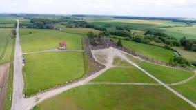 Vista aerea della campagna dell'Europa Orientale Fotografia Stock