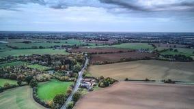 Vista aerea della campagna di Essex Fotografia Stock
