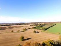Vista aerea della campagna di Sussex Fotografie Stock