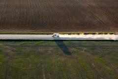 Vista aerea della campagna lituana Fotografia Stock