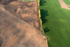 Vista aerea della campagna lituana alla sorgente Fotografia Stock Libera da Diritti